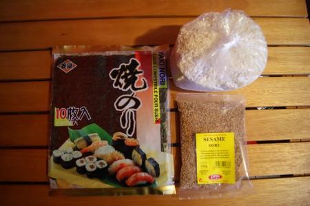 cuisine,kimpap,corée,riz gluant,knacki,concombre